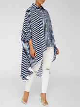 Load image into Gallery viewer, Stripe High-Low Shirt