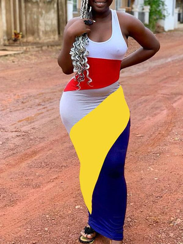 Colorblock Bodycon Dress