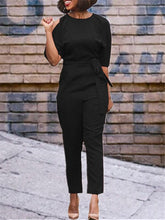 Load image into Gallery viewer, Cold Shoulder Jumpsuit with Belt