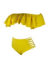 Load image into Gallery viewer, Ruffle High Waist Bikini