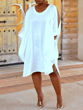 Load image into Gallery viewer, Cold Shoulder Shirt Dress