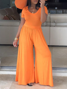 Solid Orange Jumpsuit