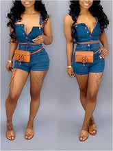 Load image into Gallery viewer, Denim Tank Top & Shorts Set
