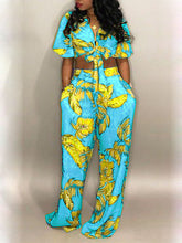 Load image into Gallery viewer, Palm Printed Knot-Front Co-ord