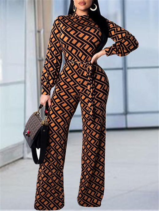 Print Jumpsuit With Belt (PRE-ORDER - 12/21)