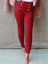 Load image into Gallery viewer, Button Suede Nap Leggings