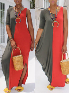Two-tone Asymmetic Dress