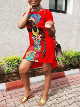 Load image into Gallery viewer, African Girl Tee Dress - clearance