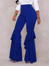Load image into Gallery viewer, High Waist Cascading Flare Leg Pants