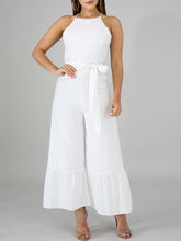 Load image into Gallery viewer, Solid Cami Ruffle Jumpsuit