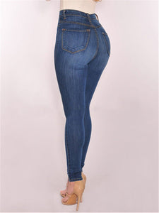 High-Waist Stretch Skinny Jeans