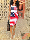 USA Tank Top and Midi Skirt Set