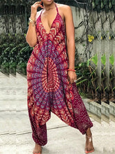 Load image into Gallery viewer, Yoga Mandala-printed Slouchy Jumpsuit