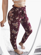 Load image into Gallery viewer, Floral Tie Waist Trousers