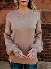 Load image into Gallery viewer, Open Back Knotbow Sweater
