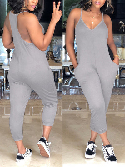 Camisole Solid Color Jumpsuit