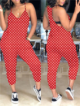 Load image into Gallery viewer, Polka Dot Spaghetti Jumpsuit