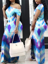 Load image into Gallery viewer, Three-Tone Maxi Dress