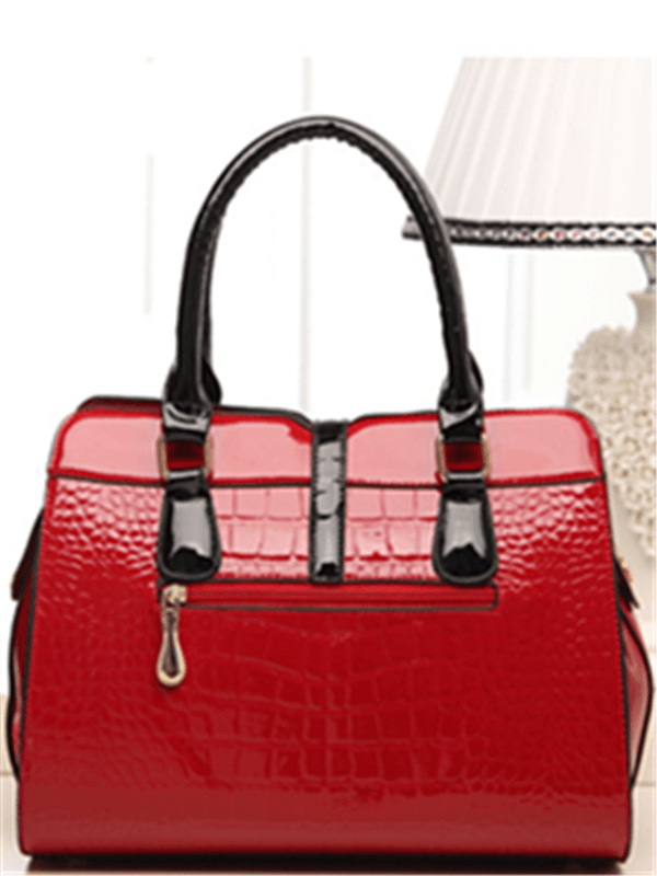 Crocodile Grain Leather Bag