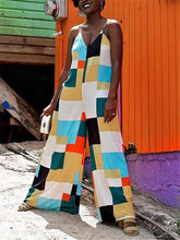 Load image into Gallery viewer, Spaghetti Color-Block Jumpsuit (1380669849717)