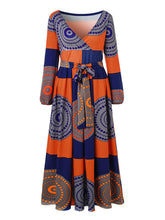 Load image into Gallery viewer, African Print Wrapped Maxi Dress