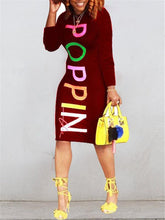 Load image into Gallery viewer, Slogan Midi Dress