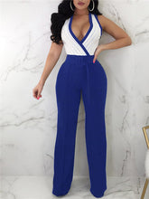 Load image into Gallery viewer, Wrapped Stripe Wide Leg Jumpsuit