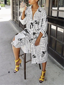 Newspaper Shirt Dress (1418488774773)