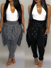Load image into Gallery viewer, Studded Rib-Knit Casual Set