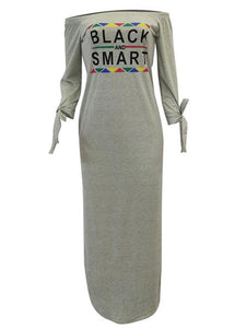 Slogan Slit Dress