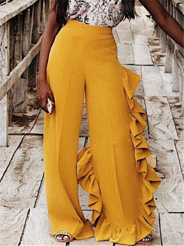 High Waist Cascading Pants