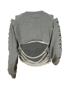 Ripped Crop Sweatshirt