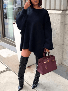 Asymmetric Pullover Dress