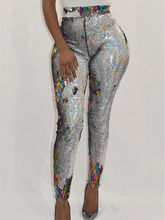 Load image into Gallery viewer, Sequin Skinny Leggings