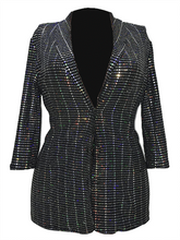 Load image into Gallery viewer, Sequin Slim Jacket