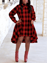 Load image into Gallery viewer, Gingham Shirt Dress (1428842315893)