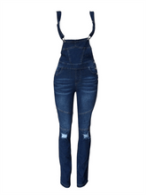 Load image into Gallery viewer, Denim Ripped Overall