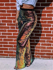 Sequin High Waist Pants