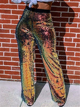 Load image into Gallery viewer, Sequin High Waist Pants