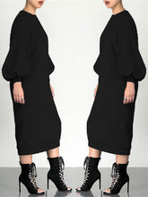 Load image into Gallery viewer, Plain Sweatshirt Dress