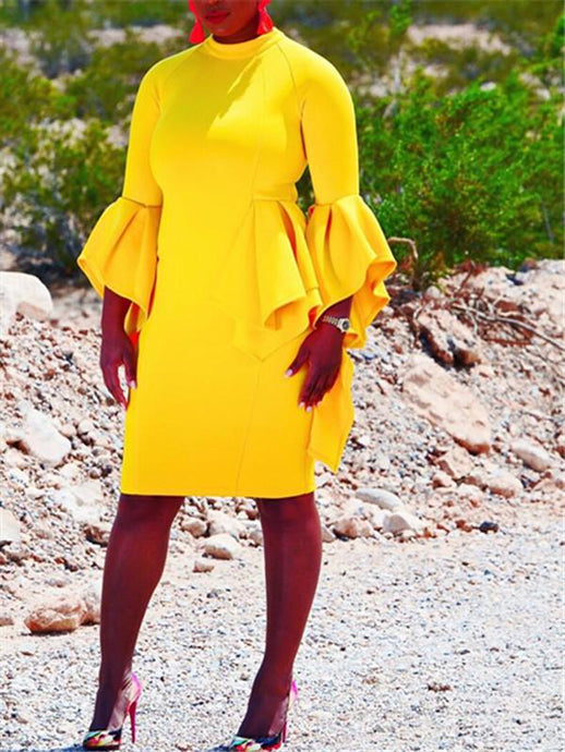 Mango Drop Midi Dress