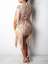 Load image into Gallery viewer, Sequin Tassel Bodycon Dress (1447119945773)