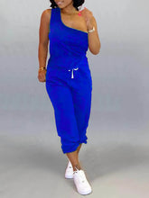 Load image into Gallery viewer, One-Shoulder Top & Pants Set