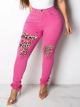 Load image into Gallery viewer, Leopard Combo Jeans