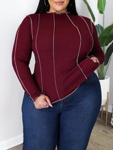 Load image into Gallery viewer, Plus Size Inside-Out Ribbed Top