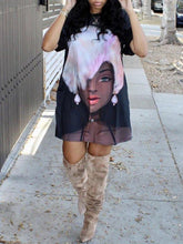 Load image into Gallery viewer, African Cutie Tee Dress