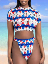 Load image into Gallery viewer, Printed High-Waist Bikini