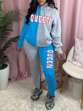 Load image into Gallery viewer, QUEEN Two-Tone Hoodie & Pants Set