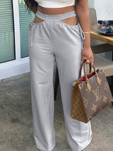 Load image into Gallery viewer, Cutout Wide-Leg Pants