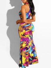 Load image into Gallery viewer, Printed Sleeveless Maxi Dress
